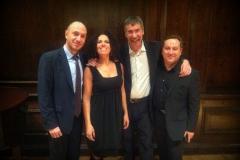 Italian Cultural Center, NYC w/Luca Garlaschelli and Davide Corini. Fabio Troisi, cultural attaché